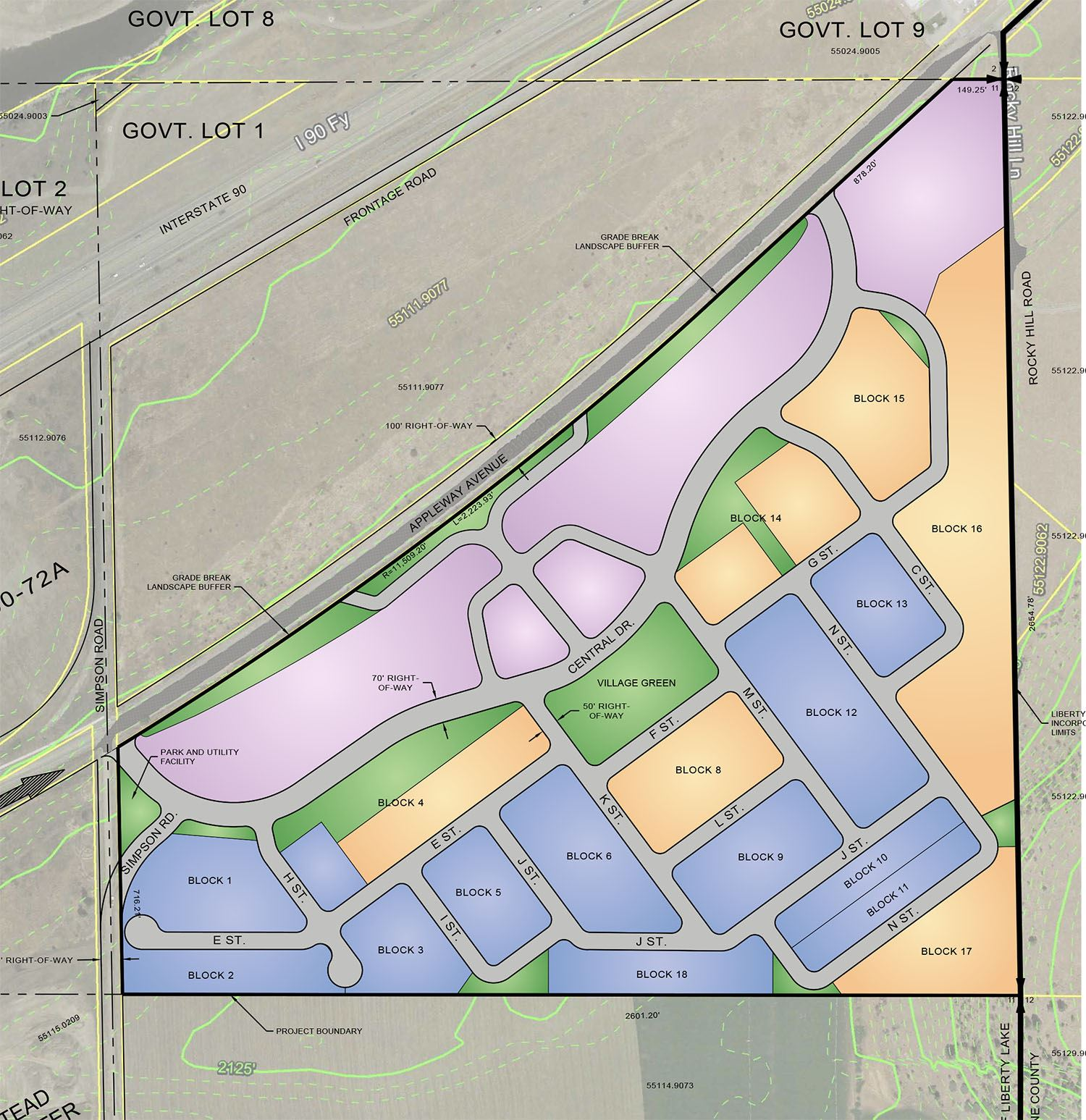 Liberty Lake Conceptual Development Plan Map