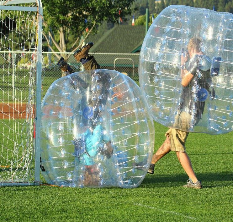 Barefoot Bubble Soccer