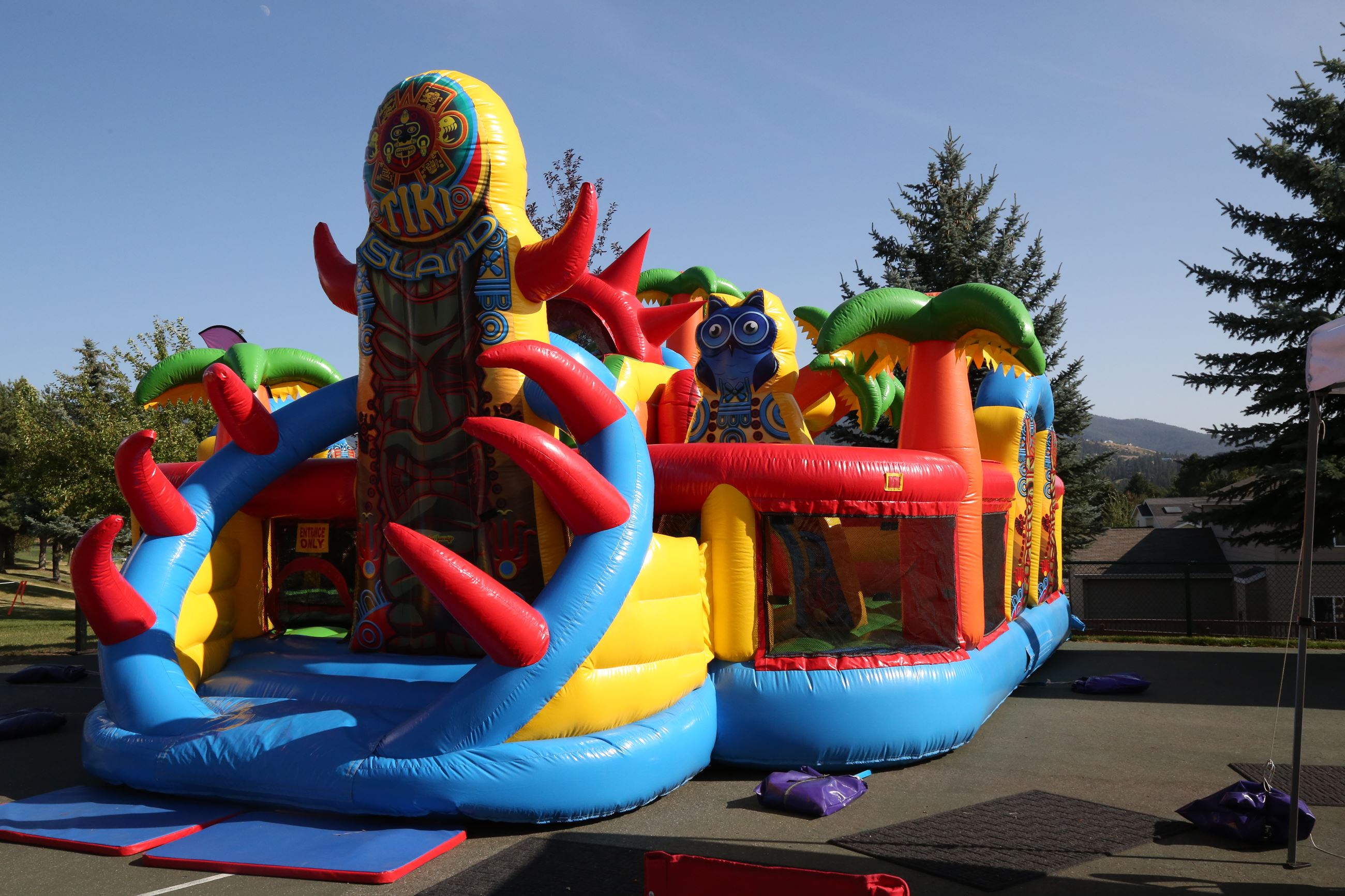 Blow up obstacle course