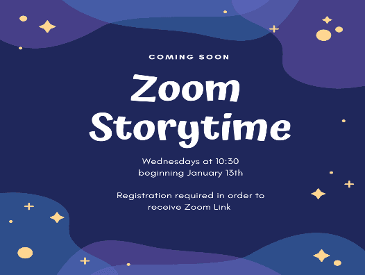 zoom storytime ad