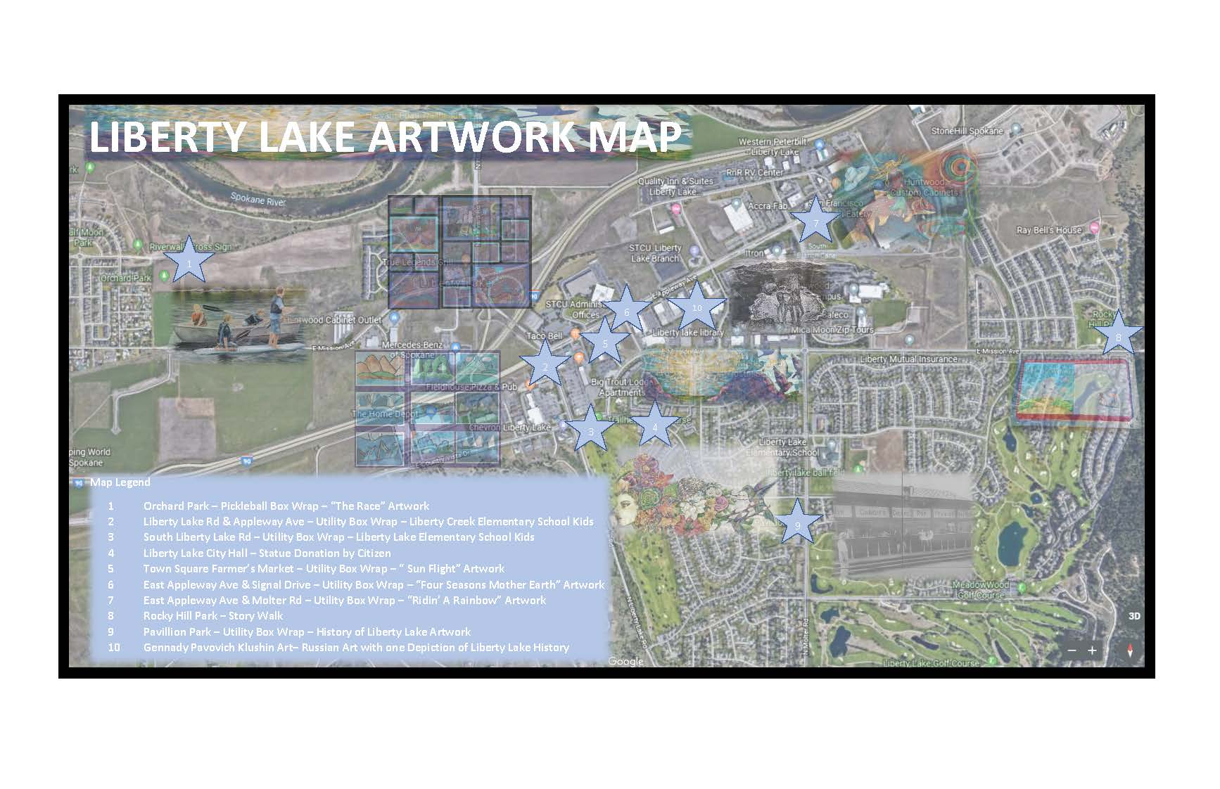Liberty Lake Artwork Map